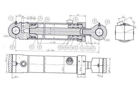 Siłownik hydrauliczy- zamykania łyżki