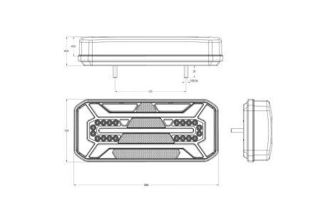 Lampa zespolona tylna W184DD LED 12V/24V prawa bez oświetlenia tablicy i światła pozycyjnego bocznego