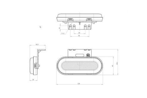 Lampa zespolona pozycyjna boczna W198 12V/24V LED