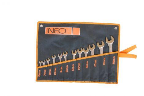 Kpl. kluczy płasko-oczkowych 12 częściowych CRV6-22mm NEO