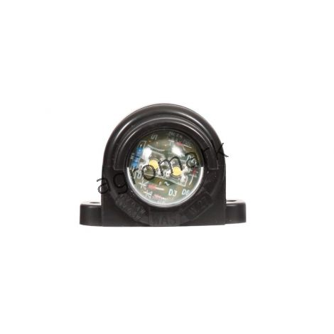 Lampa oświetlenia tablicy rejestracyjnej, jednofunkcyjna, 12V-24V + przewody 18cm LgY-S 0,75mm2, diody