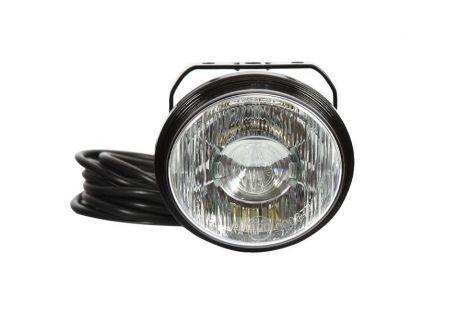 Lampa LED do jazdy dziennej (DRL), jednofunkcyjna, 12V-24V + przewody 250cm YLY-S 3x0,5mm2, diody