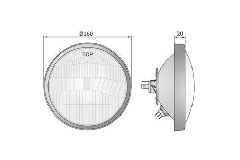 Element optyczny z ramką 330/360