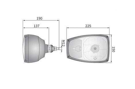 Reflektor przedni prawy H4 4F P