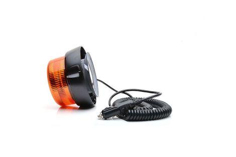 Lampa ostrzegawcza (klosz żółty), jednofukcyjna, 12V-24V + przewody 300cm QLY-S 2x0,5mm2, diody