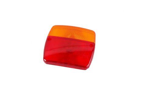 Klosz lampy zespolonej przyczepy (klosz wkładka czerwona-193F1+ klosz pomarańczowy-dolewanie)
