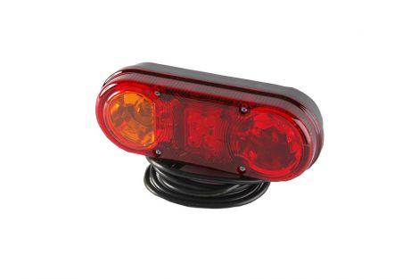 Lampa zespolona tylna HOR76 diodowa 12/24V, lewa(bez oświetlenia tablicy rejestracyjnej światło pozycyjne diodowe 12/24V)