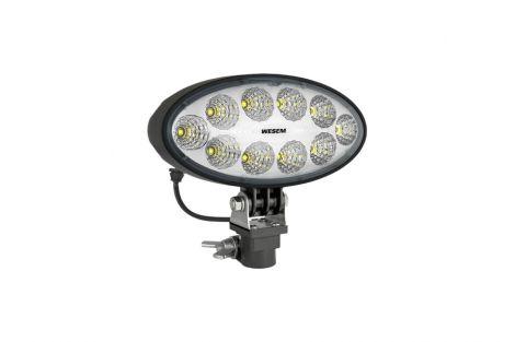 Lampa robocza 3000lm moduł LED 12V-24V, przewód 0,22 m, złącze DT06-2S, złącze DIN 72591, uchwytem CAR1 i wbudowanym złączem Deutsch DT04-2P