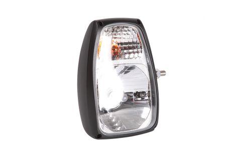Reflektor przedni lewy  h4 4f  l-225x150+obudowa z dolnym moco.