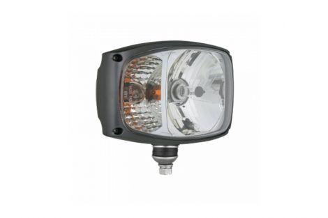Reflektor przedni prawy  h4 4f  l-225x150+obudowa z dolnym moco.