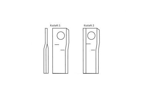 Nożyk lewy 96x50x4 Fi - 19