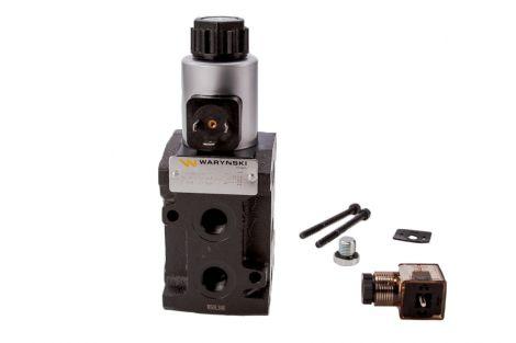 Dzielnik, zawór, elektrozawór kierunkowy elektromagnetyczny kontroli W-E38DVS6/2 (DVS6/50 L/MIN) G3/8 50L