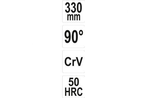Szczypce wydłużone wygięte 90  340mm