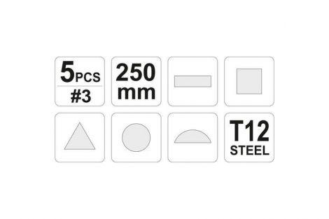 Pilniki do metalu (5szt) YATO