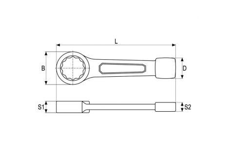 Klucz do pobijania oczkowy 46 mm