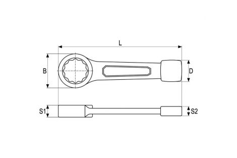 Klucz do pobijania oczkowy 70 mm