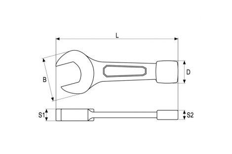 Klucz do pobijania płaski 36 mm