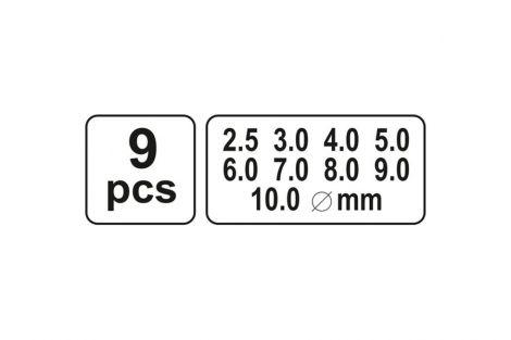 Przebijaki do skóry 2,5-10mm 9cz