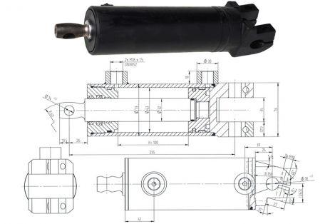 Cylinder CJ-SO6-63/32/102