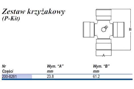 Krzyżak typu U 23,8x61,2
