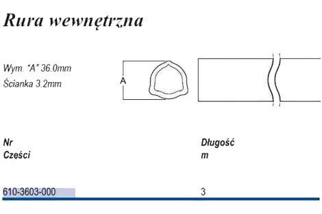 Rura trójkąt D36  T-3  zew,WEW