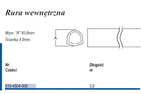 Rura trójkąt D45 wew