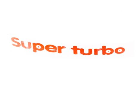Naklejka Super Turbo prawa