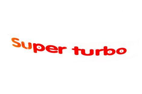 Naklejka Super Turbo lewa