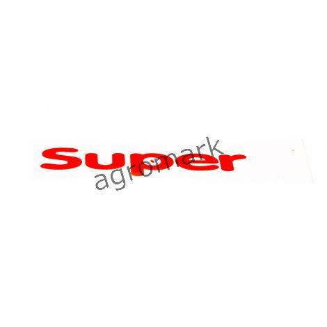 Napis prawy SUPER