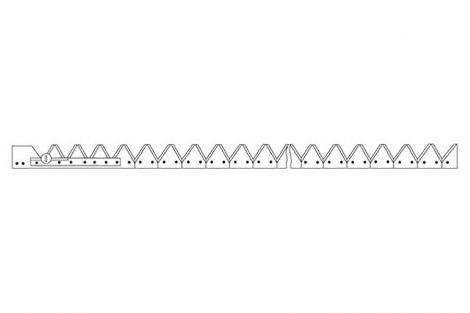 Listwa noż. Dł-4.70m ST nożyk górno  nacinany rasspe 61 noży