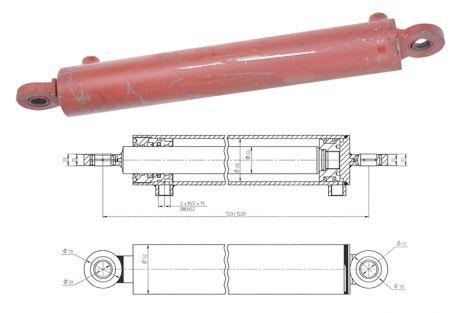 Cylinder podpory 80/50/500