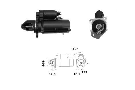 Rozrusznik 62/930-289  12V  4.2KW  3x127 Z-10  ISKRA/LETRIKA
