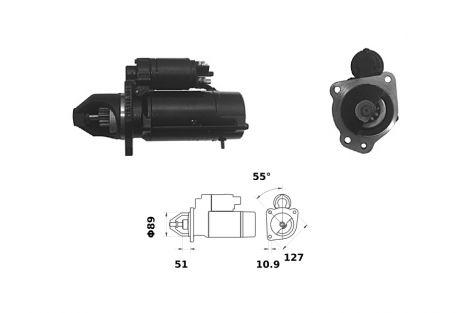 Rozrusznik 62/930-186  12V - 4,2 kW ISKRA/LETRIKA