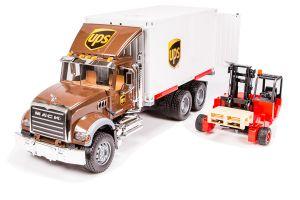 Bruder ciężarówka Mack z paleciakiem